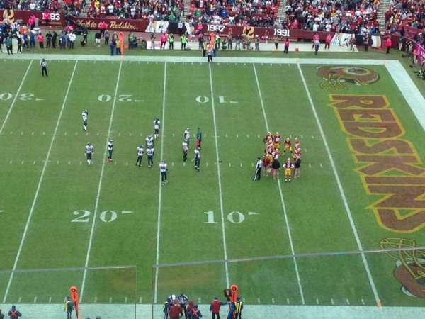 FedEx Field, section: 452, row: 4, seat: 13