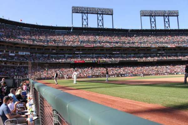 Oracle Park, section: LB105, row: A, seat: 20