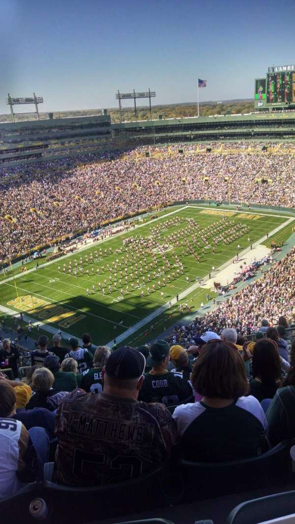 Lambeau Field, section: 735s, row: 15, seat: 8