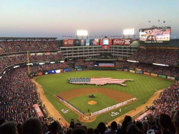 Globe Life Park in Arlington, section: 327, row: 22, seat: 14