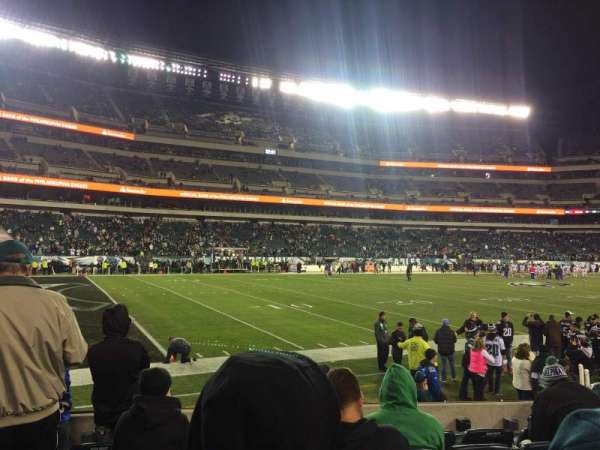 Lincoln Financial Field, section: 135, row: 6, seat: 21