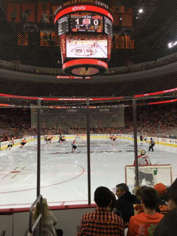 Wells Fargo Center, section: 107, row: 6, seat: 1