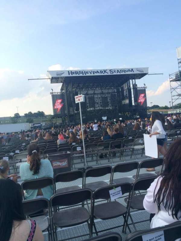 Hershey Park Stadium, section: G, row: 60, seat: 17