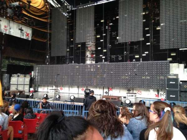 Shoreline Amphitheatre, section: 101, row: C, seat: 17