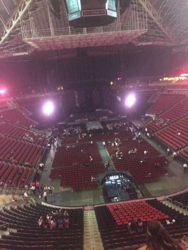 KeyArena, section: 206, row: 3, seat: 13