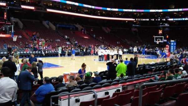 Wells Fargo Center, section: 123, row: 6, seat: 9,10
