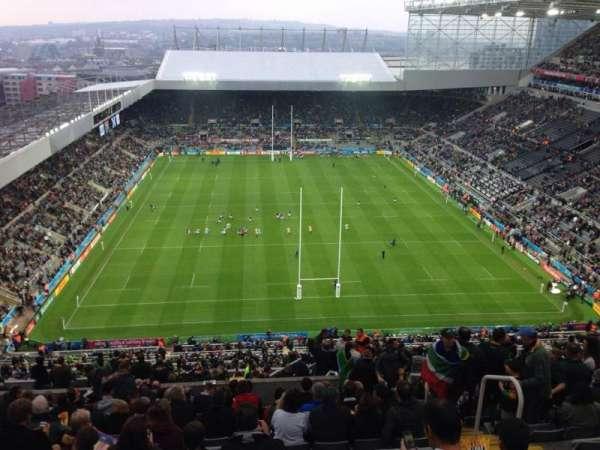 St James' Park, section: L7L, row: T, seat: 513