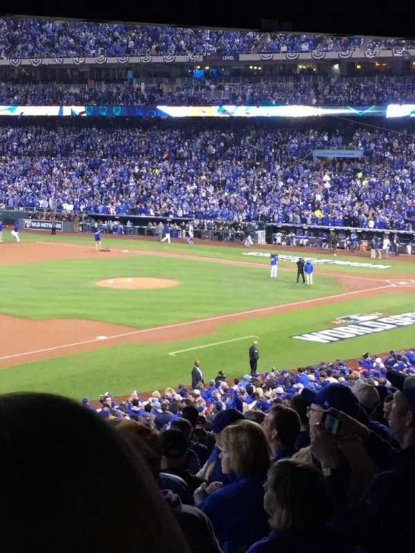 Kauffman Stadium, section: 215, row: RR, seat: 1