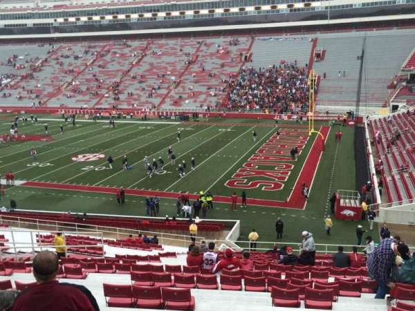 Razorback Stadium, section: 102, row: 38, seat: 36