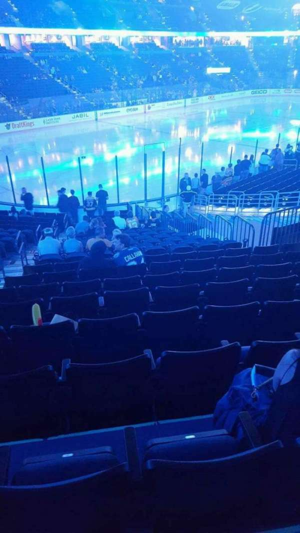 Amalie Arena, section: 104, row: X, seat: 27