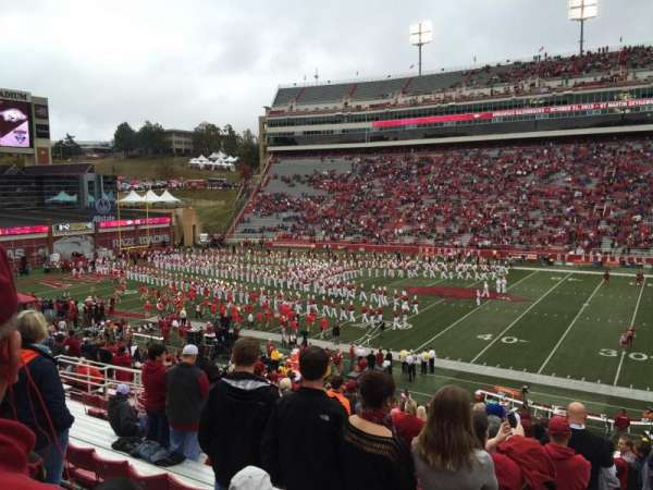 Razorback Stadium, section: 103, row: 32, seat: 16