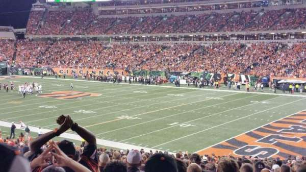 Paul Brown Stadium, section: 132, row: 35, seat: 10