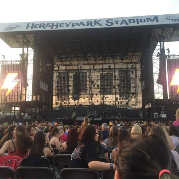 Hershey Park Stadium, section: B, row: 35, seat: 15