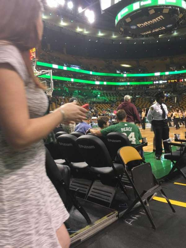 TD Garden, section: Lodge, row: 14, seat: 9