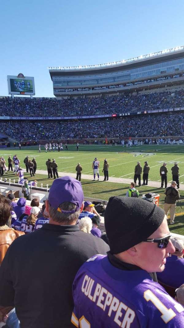 TCF Bank Stadium, section: 109, row: 6, seat: 10