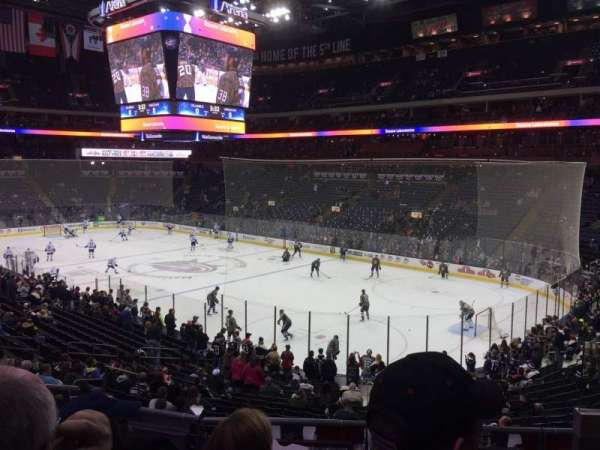 Nationwide Arena, section: 101, row: DD, seat: 3