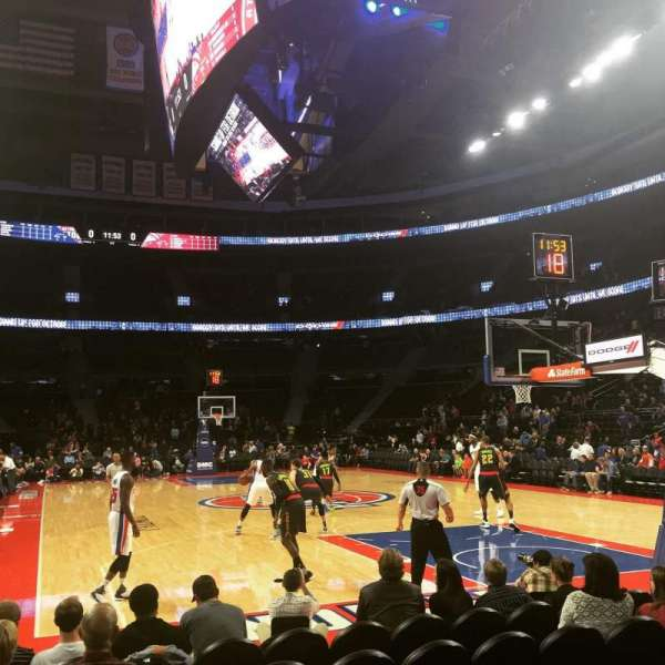 The Palace of Auburn Hills, section: 107C, row: AAA, seat: 5