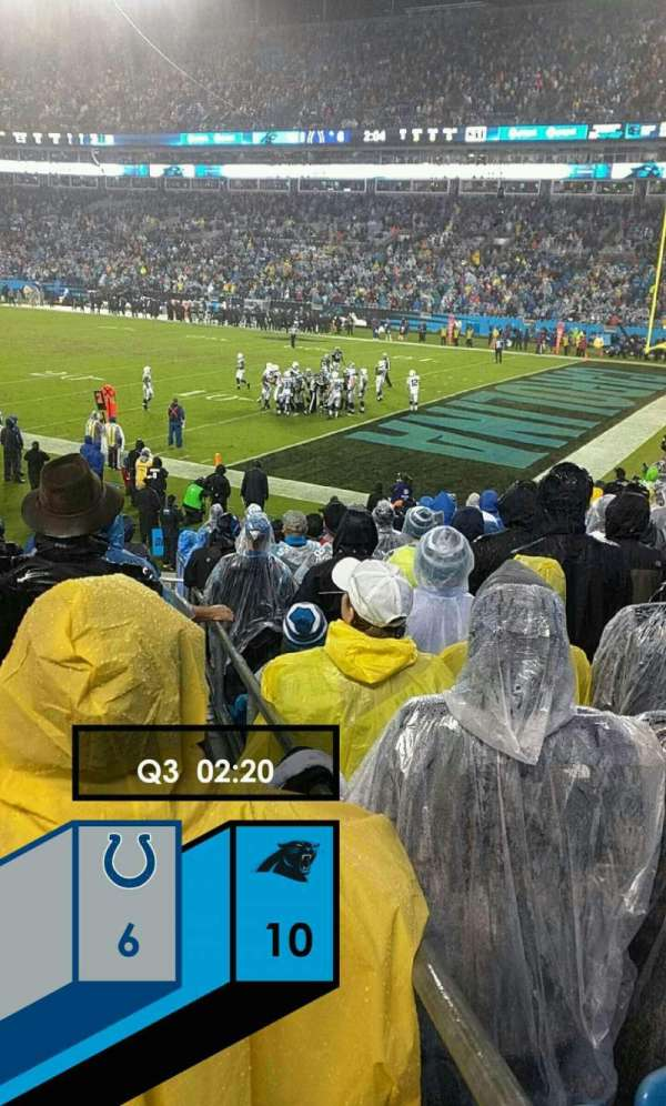 Bank of America Stadium, section: 106, row: 16, seat: 11