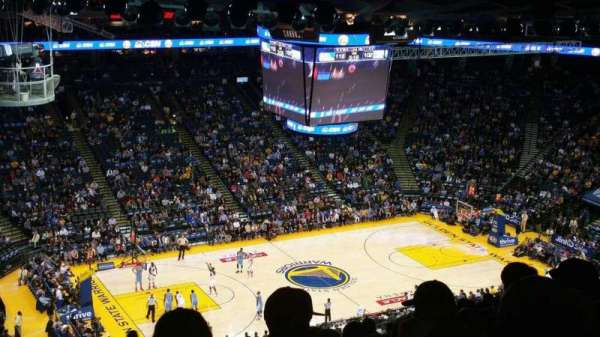 Oracle Arena, section: 203, row: 16, seat: 19