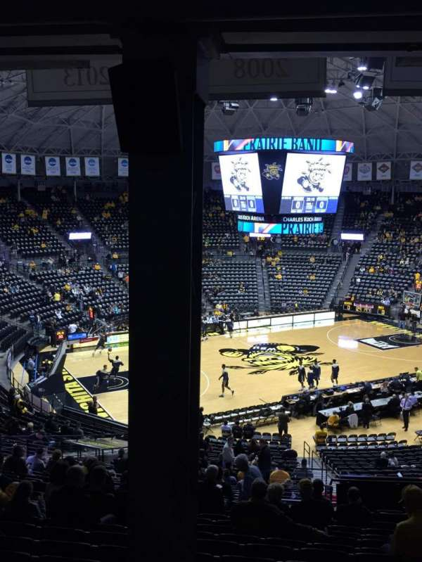 Charles Koch Arena, section: 123, row: 34, seat: 14