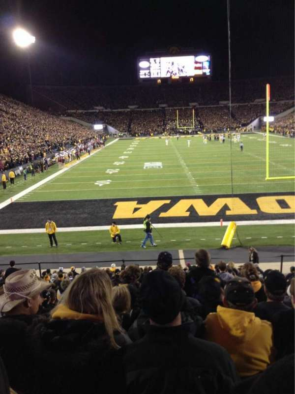 Kinnick Stadium, section: Old 136, row: 18, seat: 8