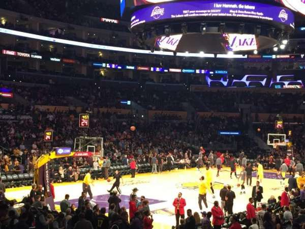 Staples Center, section: 105, row: 16, seat: 2