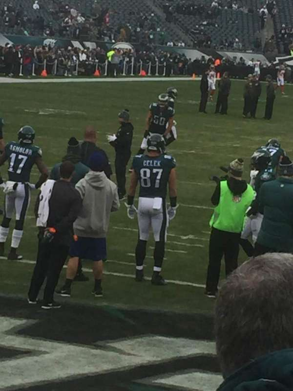 Lincoln Financial Field, section: 111, row: 1