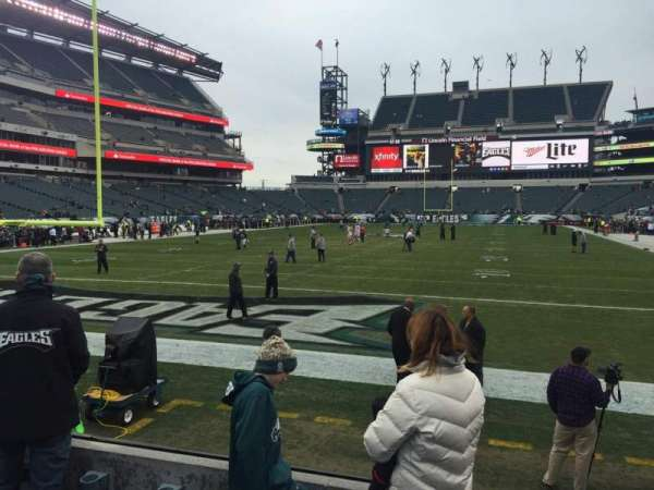 Lincoln Financial Field, section: 111, row: 4