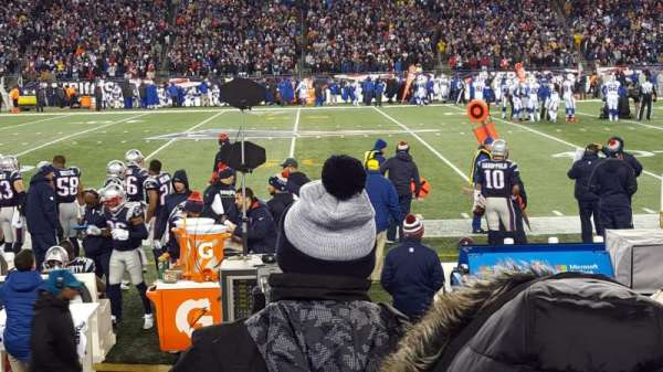 Gillette Stadium, section: 109, row: 4, seat: 20