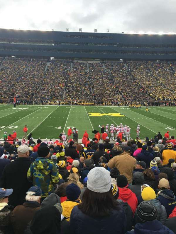 Michigan Stadium, section: 2, row: 21, seat: 23