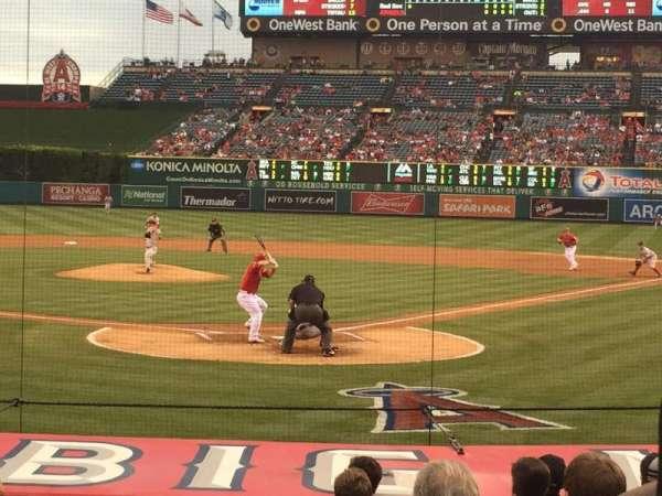 Angel Stadium, section: 117, row: M, seat: 1