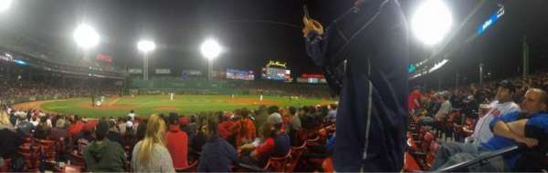 Fenway Park, section: 1, row: 8, seat: 17