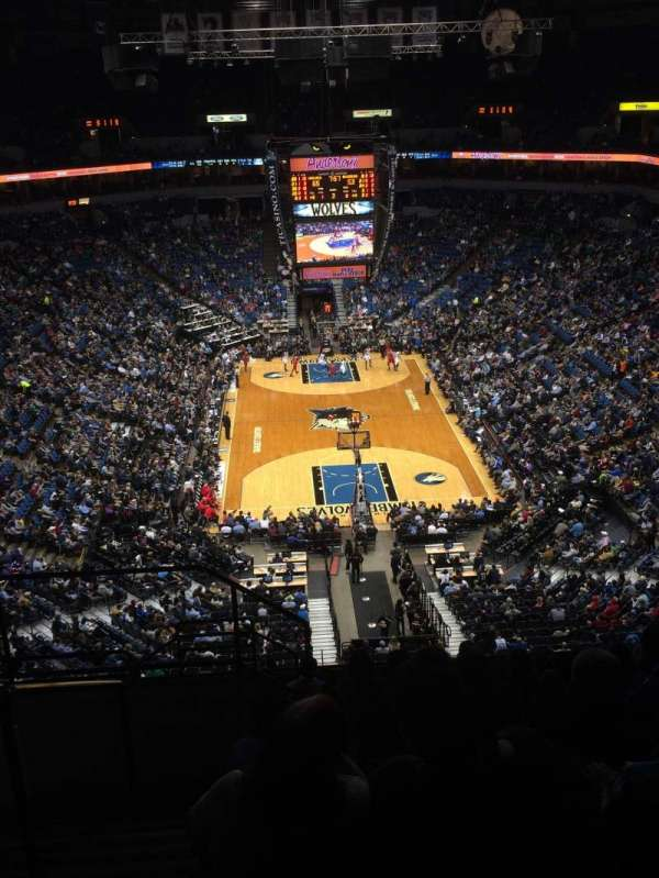Target Center, section: 222, row: M, seat: 14