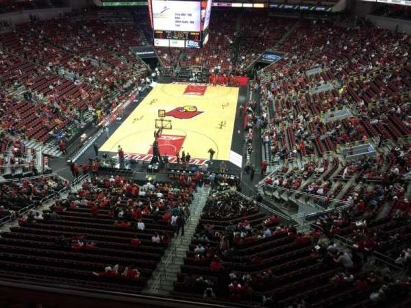 KFC Yum! Center, section: 315, row: A, seat: 1