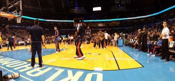 Chesapeake Energy Arena, section: FL1, row: A, seat: 3