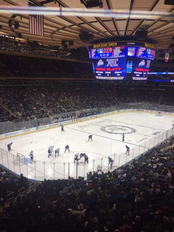 Madison Square Garden, section: 220, row: 1, seat: 9