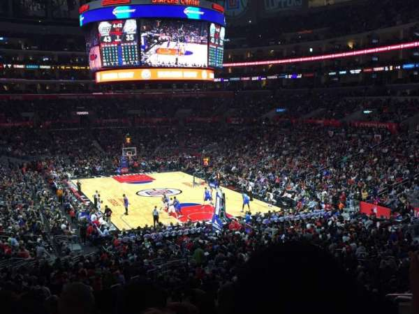 Staples Center, section: 218, row: 10, seat: 7-8