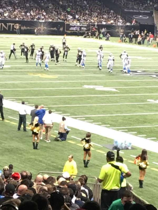 Caesars Superdome, section: 107, row: 35, seat: 2