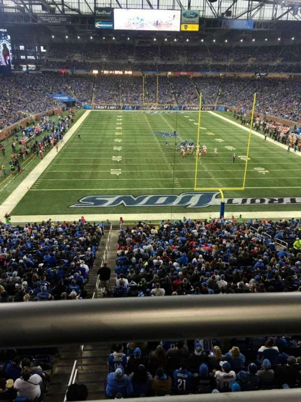 Ford Field, section: 217, row: 1, seat: 20