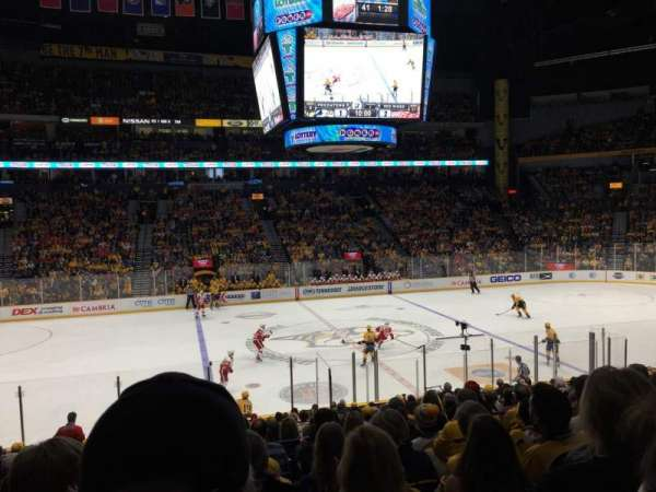 Bridgestone Arena, section: 105, row: H, seat: 14