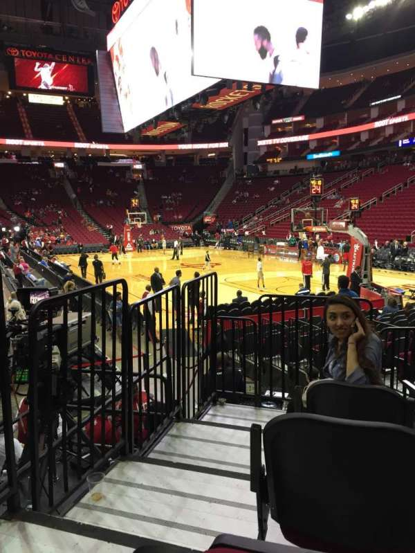 Toyota Center, section: 102, row: 8, seat: 10