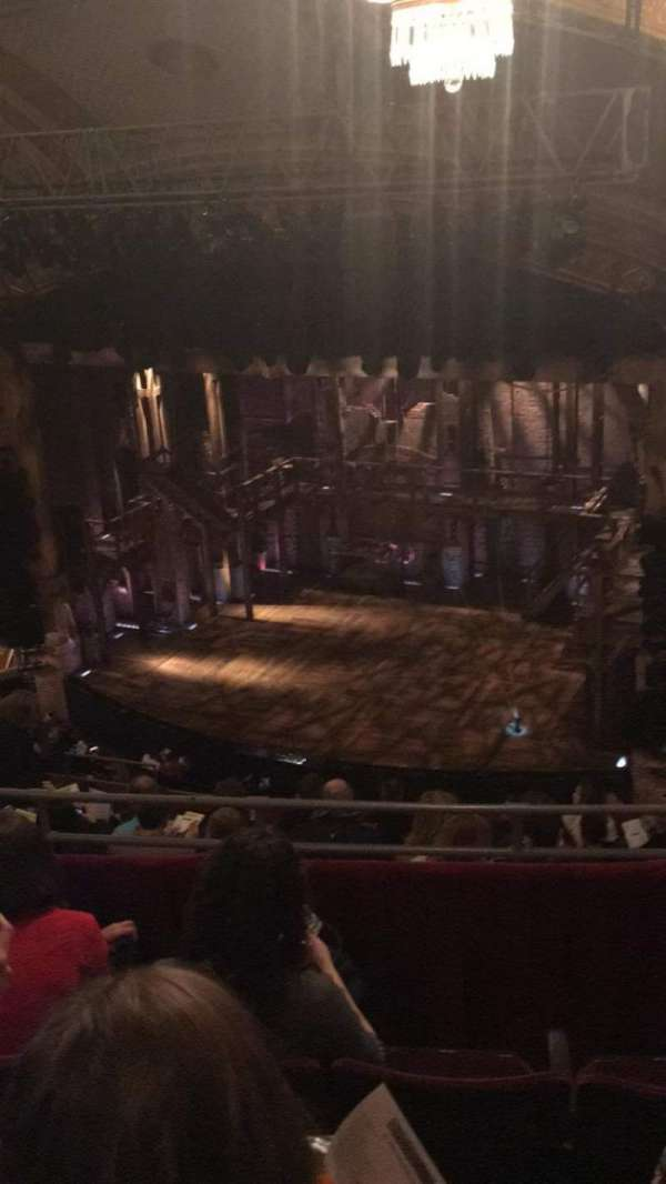 Richard Rodgers Theatre, section: Rear Mezzanine R, row: D, seat: 26