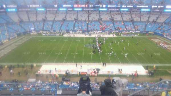 Bank of America Stadium, section: 515, row: 3, seat: 9