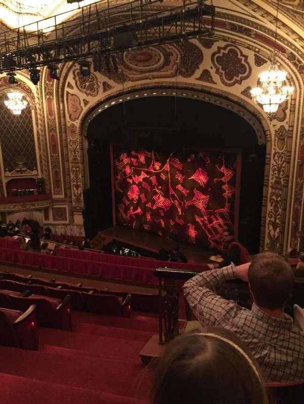 Cadillac Palace Theater, section: Dress Circle R, row: NN, seat: 2