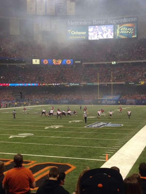 Caesars Superdome, section: 124, row: 8, seat: 25