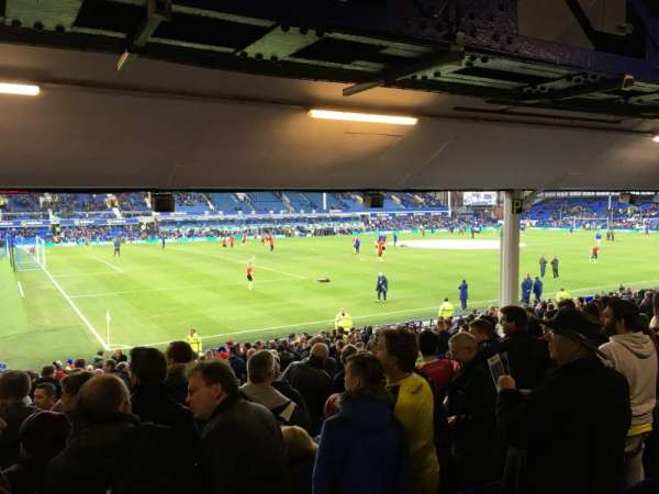 Goodison Park, section: Bullens Road, row: N, seat: 30