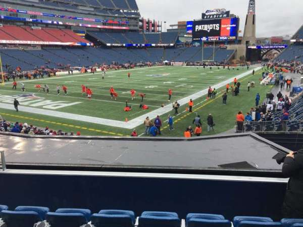 Gillette Stadium, section: 117, row: 22, seat: 14
