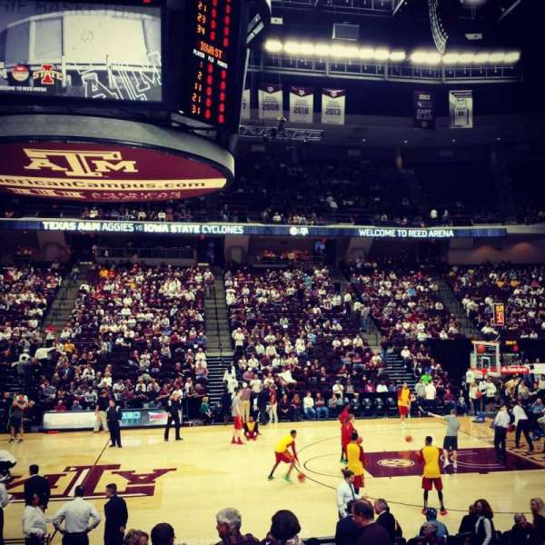 Reed Arena, section: 121, row: D, seat: 3