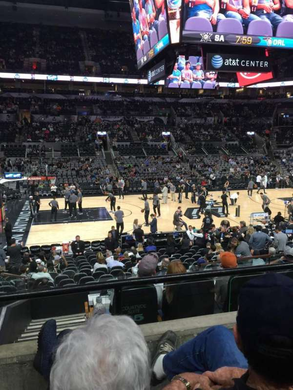 AT&T Center, section: 109, row: 21, seat: 14