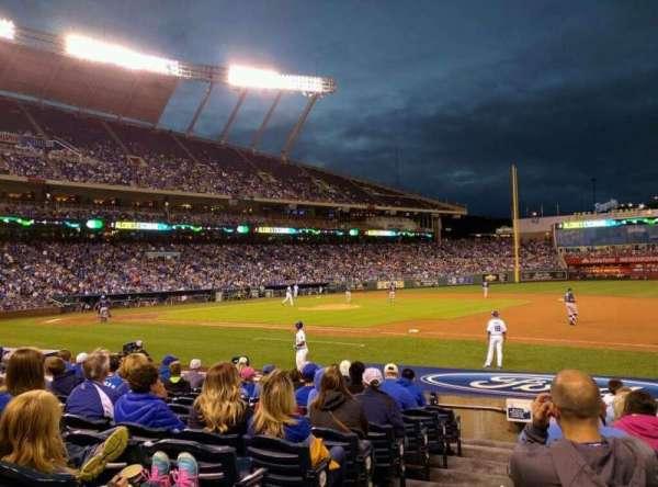 Kauffman Stadium, section: 138, row: K, seat: 1